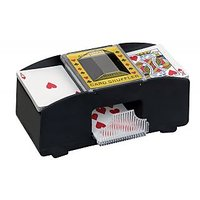 2 Deck Card Shuffler Automatic Shuffles One Touch Button Casino Cards