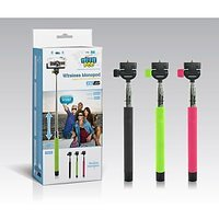 Selfie Stick With In-built Bluetooth With Zoom In Out On The Grip Handle