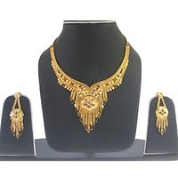 1 Gram Gold Plated Necklace With Earrings