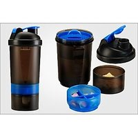 3 In 1 Gym Sipper Shaker Bottle For Gym And Sports