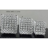 Crystal Votive Candle Holder Set Of 3pcs For Home Decoration Wedding Gift