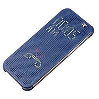 Dot Matrix View Sensor Flip Cover Case For HTC One E8 - Blue