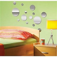 Se106 Acrylic 3D Home Office Decor Wall Sticker Decals Circle 1 Set 14 Circle