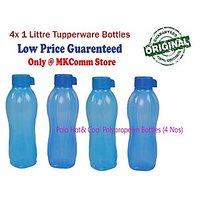 Polo Brand Polypropelyn Tupperware 1 Litre Water Bottle (Set Of 4 Bottles) (Hot& Cool)
