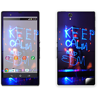 Skintice Premium Vinyl Skin For Sony Xperia Z, Design - Keep Calm And Edm