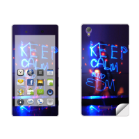 Skintice Premium Vinyl Skin For Sony Xperia T3, Design - Keep Calm And Edm