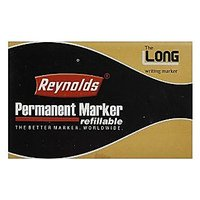 Reynolds Permanent Marker Refillable - Black (Pack Of 10 Pcs.)
