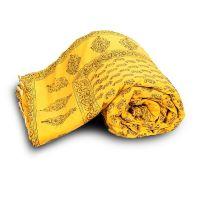 Paisley Designer Yellow Jaipuri Double Bed Quilt 334