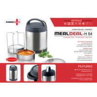 Power Plus 'Meal Deal' Insulated SS Lunch Box (with Stainless Steel Containers)