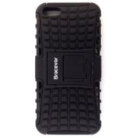 Bracevor Rugged Armor Hybrid Kickstand Case For Apple IPhone 5 5s - Black