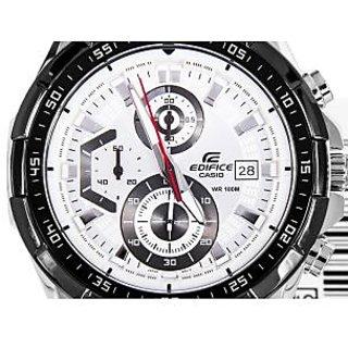 Casio Edifice Stopwatch Chronograph White Dial Men's Watch - EFR-539