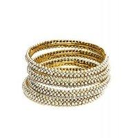 Joyas Diamond And Pearl Bangle Set For Women_11769_2.4
