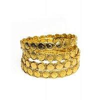 Joyas Golden Laxmi Designer Bangle Set For Women_12922_2.4