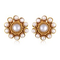 Alamod Fashion Floral Pearl Earring ALER 5007
