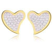 Alamod Fashion Heart Pearl Earring ALER 5019