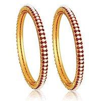 Alamod Fashion Alluring Pearl Ruby Ring ALB 5006
