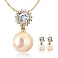 Alamod Fashion Patent Pearl Pendant Set ALPS 5027