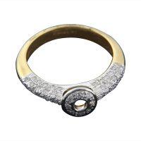 The Studded Radiance Ring - 18 Kt White Gold - 72555834