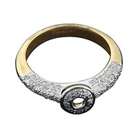 The Studded Radiance Ring - 18 Kt White Gold