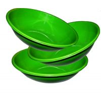 Stainless Steel Serving Bowl Green Color/pasta Bowl/salad Bowls Set Of 3 Pcs