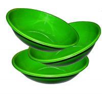 Stainless Steel Serving Bowl Green Color/pasta Bowl/salad Bowls Set Of 3 Pcs