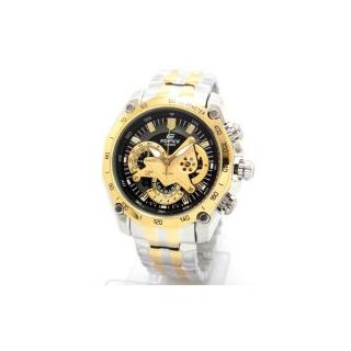 Casio Watch Edifice EF 550D Gold Two Tone Chronograph (New In Box)