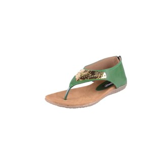 Shoe-Stopper Green Daily Wear Comfortable Open Sandal