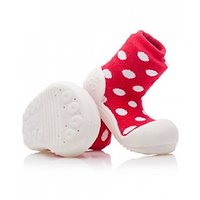INFANT / BABY SHOES  (POLKA DOT RED)