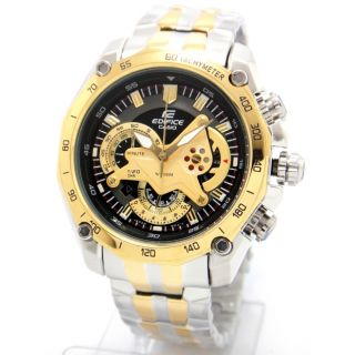 Casio Watch Edifice EF 550D Gold Two Tone Chronograph (New In Box) 1 Year Warranty