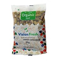 Vision Fresh Organic Cardamom Green (Elaichi) ( Whole) 50 Gms