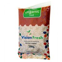Vision Fresh Organic Red Chilly Powder 200 Gms