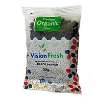 Vision Fresh Organic Black Pepper (Whole) 50 Gms