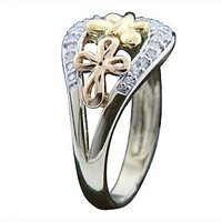 Glamorous And Beautiful Real Diamond Ring In 18Kt White Gold