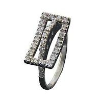 Round Brilliant Diamond Ring In 18 Kt White Gold