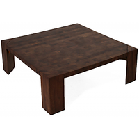 Afydecor Solid Wooden Coffee Table With Angular Legs