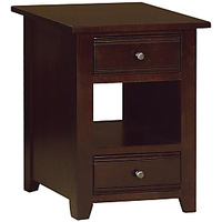 Afydecor Rustic Style End Table With Tapered Legs