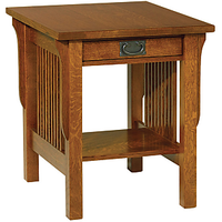 Afydecor Style Wooden Table With Single Box Drawer