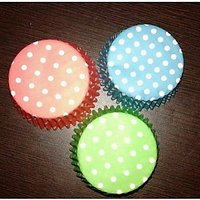 100Pcs - MEDIUM PAPER CASES LINERS BAKING MOLD CUP CAKE CUPS.