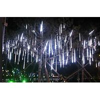 Set Of 10 Colorful LED Meteor Shower Rain Tube Lights