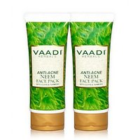 Vaadi Value Pack Of 2 ANTI ACNE NEEM FACE PACK (120gm X2)