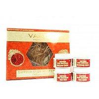 Saffron Skin-Whitening Facial Kit With Sandalwood Extract 70gm