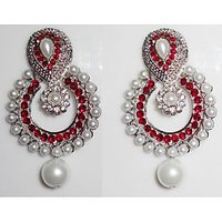Jarani Tradtional Gold Plated  Ramleela  Earrings With Pearl Drops For Women