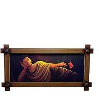 Gautam Buddha Resting Position Canvas Printed Frame By Returnfavors