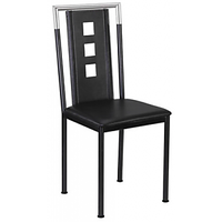 Dining/Restaurant Chair In Black Leatherette
