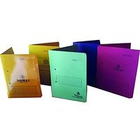 OFFICE FILE COVER (COMBO OF 5 ) + Free Set Of 10 Use & Throw Pens
