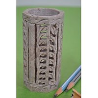 Artist Haat Hand Carved Natural Soapstone Pen Stand Gift. - 73020316
