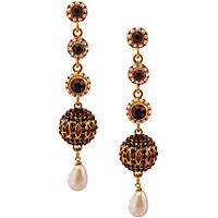 Rich Lady Designer Black Earring