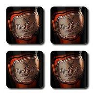 Anger Beast Stylish Square Coasters With Mirror Finish - Set Of 4 SB00060