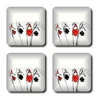 Anger Beast Stylish Square Coasters With Mirror Finish - Set Of 4 SB00135