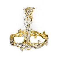 Joyas American Diamond Studded Elegant Bangle Set For Women_8B854175_2.4